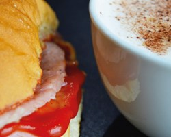 Hot Drink & Bacon Butty